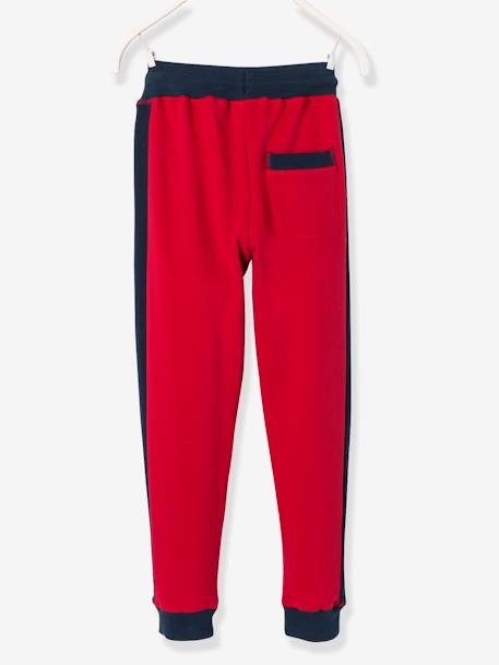 Boys' Fleece Joggers BLUE DARK SOLID WITH DESIGN+GREY LIGHT MIXED COLOR+RED DARK SOLID WITH DESIGN - vertbaudet enfant