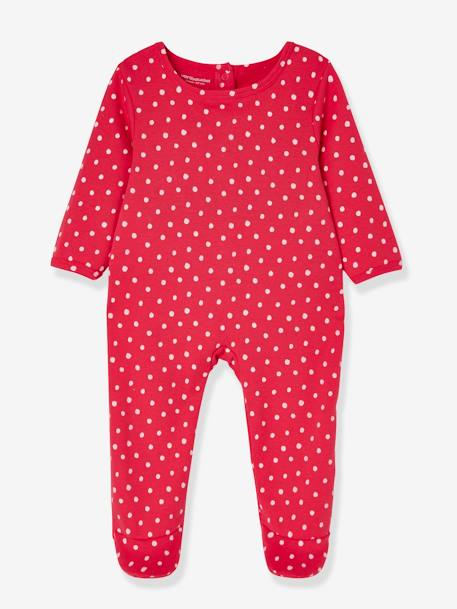 Babies' Pack of 3 Cotton Pyjamas, Press-studs on the Back PINK DARK 2 COLOR/MULTICOL OR - vertbaudet enfant