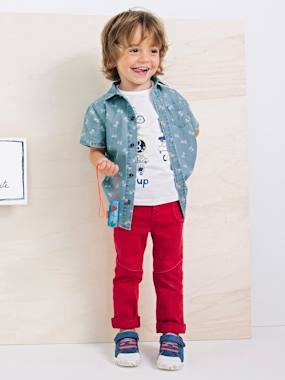 Boys-Shirts-Boys' Printed Denim Shirt