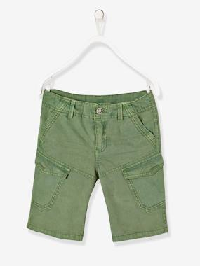 Short & Bermuda - Vertbaudet Fashion specialist for kids and baby : clothing, shoes and accessories-Boys' Military Style Bermuda Shorts