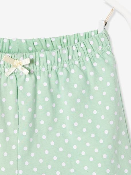 Girls' Pyjamas with Shorts, Frozen® GREEN LIGHT 2 COLOR/MULTICOLOR - vertbaudet enfant