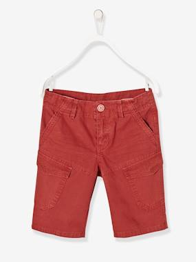 Outlet-Boys' Military Style Bermuda Shorts