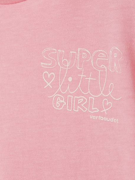 Baby Girls' T-shirt Pink+White - vertbaudet enfant