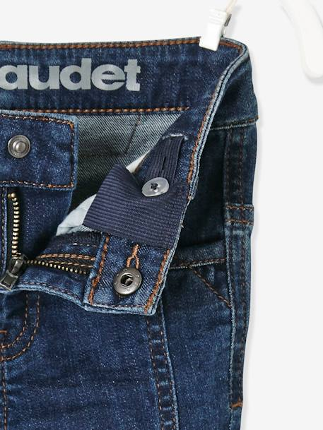 MEDIUM fit, Boys' Slim Fit Biker-Style Jeans BLUE DARK WASCHED+BLUE MEDIUM WASCHED - vertbaudet enfant