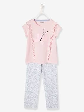Girls-Nightwear-Girls' Jersey Knit Pyjamas
