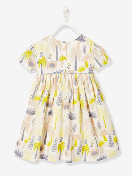 Girls' Printed Dress GREEN LIGHT ALL OVER PRINTED - vertbaudet enfant