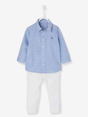 Party collection-Baby-Baby Boys' Shirt & Trouser Outfit