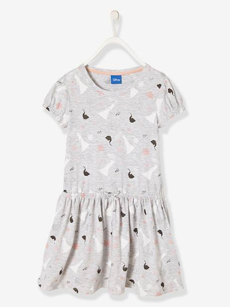 Frozen® Dress with Sequins GREY LIGHT MIXED COLOR - vertbaudet enfant