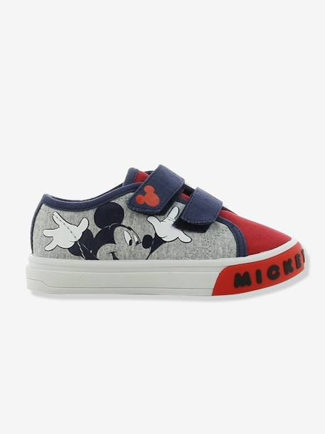 Boys' Mickey Disney® Trainers GREY LIGHT SOLID WITH DESIGN - vertbaudet enfant