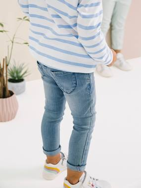 Trousers-Girls-MEDIUM Fit, Girls' Slim Fit Jeans