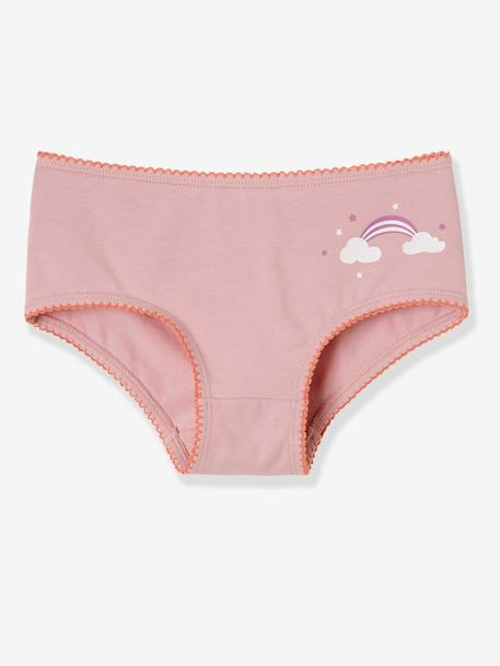 Lot de 3 shorties stretch fille Fushia/bicolore - vertbaudet enfant