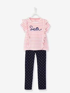 Vertbaudet Collection-Girls-Girls' Jersey Knit Pyjamas