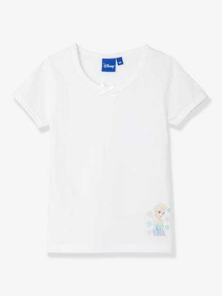Lot de 2 T-shirts fille Reine des neiges® Blanc/motif - vertbaudet enfant