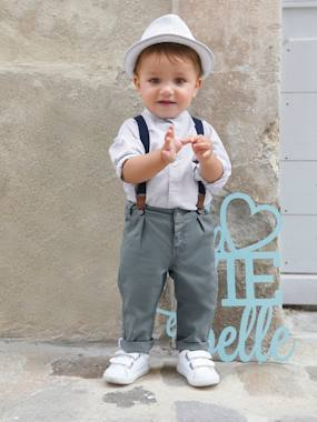 Party collection-Baby-Baby Boys' Shirt + Trousers with Braces