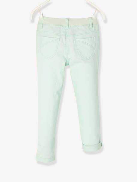 Pantalon slim fille tour de hanches LARGE morphologik Collection Maternelle Fraise+Vert d'eau - vertbaudet enfant