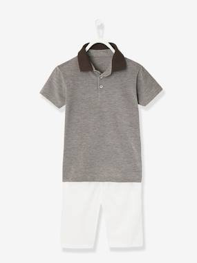 Boys-Outfits-Boys' Polo Shirt and Bermuda Shorts Outfit