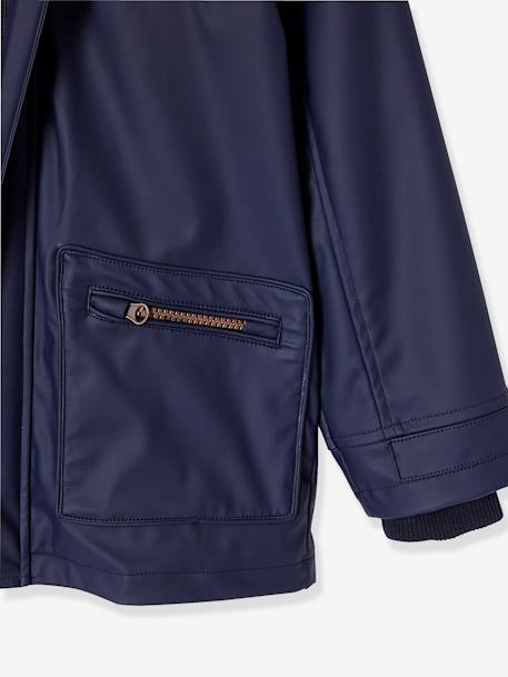 Boys' Parka BLUE DARK SOLID WITH DESIGN - vertbaudet enfant