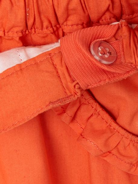 Girls' Bermuda Shorts, Convertible into Shorts ORANGE BRIGHT SOLID - vertbaudet enfant