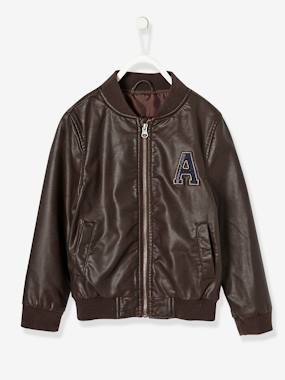 Mid season sale-Boys' Faux Leather Jacket