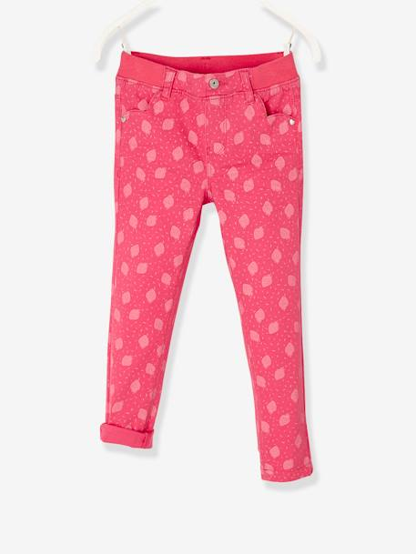 Pantalon slim fille tour de hanches MEDIUM morphologik Collection Maternelle Fraise+Vert d'eau - vertbaudet enfant