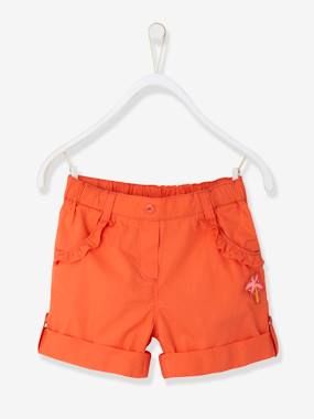 Girls-Shorts-Girls' Bermuda Shorts, Convertible into Shorts