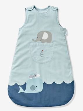 Bedding-Baby Bedding-Sleepbags-Sleeveless Baby Sleep Bag, Whale Theme