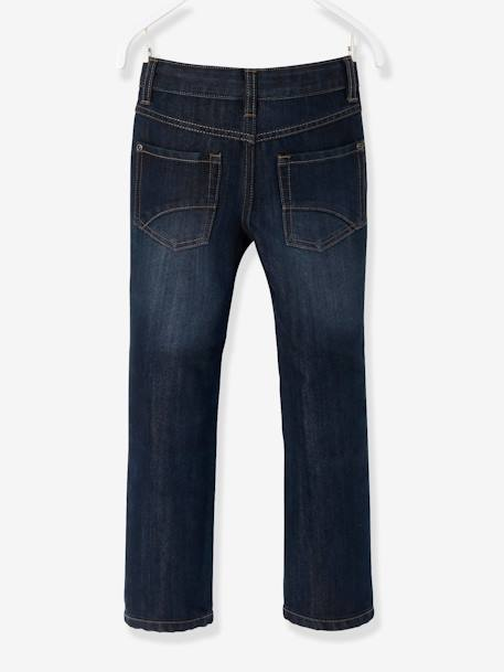 Boys Indestructible Straight-Cut Jeans BLUE BRIGHT SOLID - vertbaudet enfant