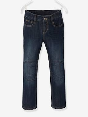 Vertbaudet Collection-Boys-Boys Indestructible Straight-Cut Jeans