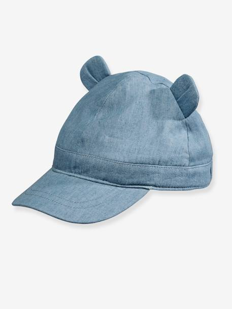 Baby Girls' Denim Cap BLUE LIGHT WASCHED - vertbaudet enfant