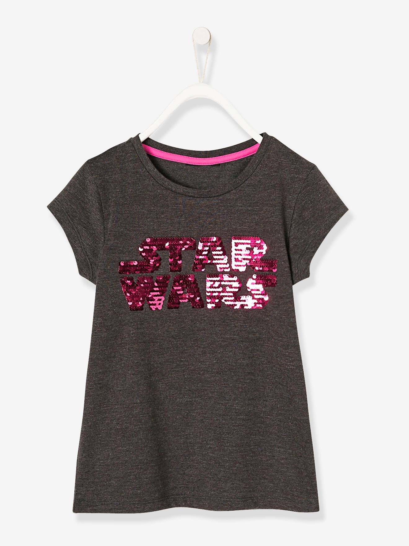 d8a5cd262 fabulous girls star wars tshirt with reversible sequins grey medium solid  with design with star wars t shirt