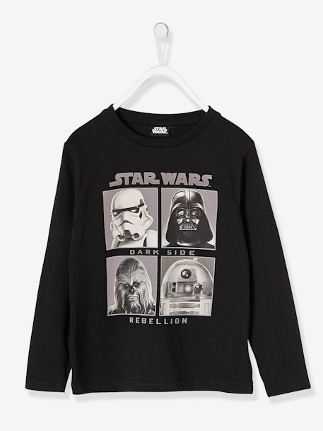 Boys' Star Wars® Top BLACK DARK SOLID WITH DESIGN - vertbaudet enfant