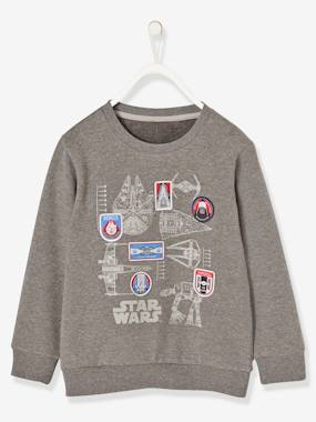 Boys-Sweatshirts & Hoodies-Boys' Star Wars® Sweatshirt with Stitched Patches
