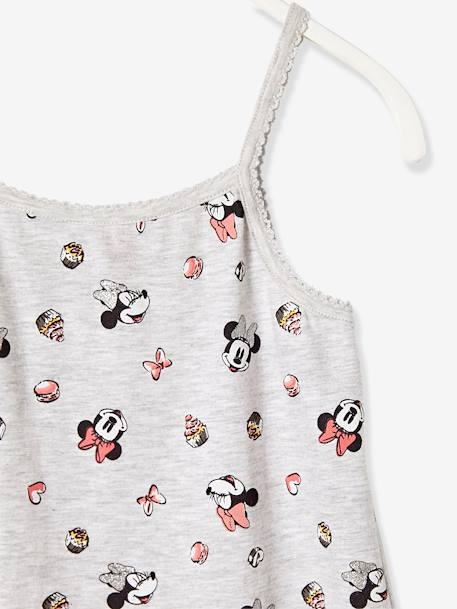 Minnie® Strappy Nightdress GREY LIGHT ALL OVER PRINTED - vertbaudet enfant