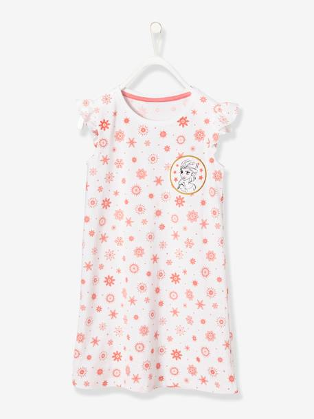 Frozen® Nightie WHITE LIGHT ALL OVER PRINTED - vertbaudet enfant