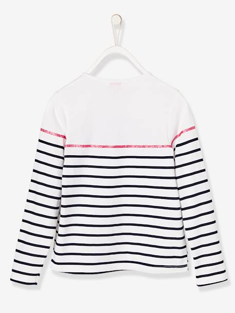 Girls' Striped Minnie® Top WHITE LIGHT STRIPED - vertbaudet enfant