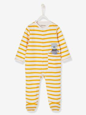 Baby outfits-Babies' Fleece Pyjamas with Press-studs on the Front