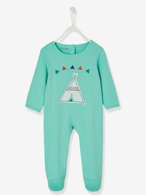Baby-Pyjamas-Babies' Cotton Pyjamas, Press-studs on the Back