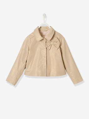 Coat & Jacket-Girls' Jacket in Iridescent Fabric