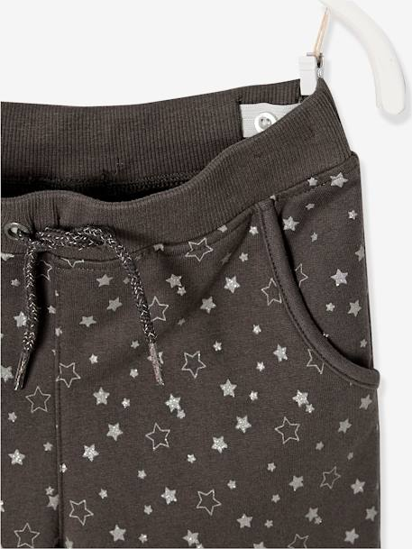 Ensemble fille sweat + T-shirt + pantalon Gris chiné - vertbaudet enfant