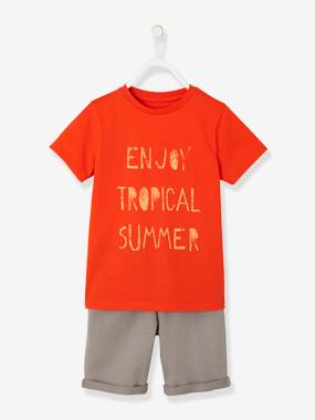 Boys-Outfits-Boys' T-Shirt & Bermuda Shorts Set