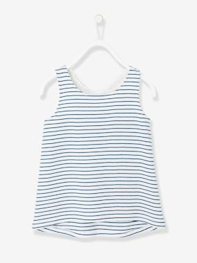 Girls-Tops-Girls' Top with Macramé Back