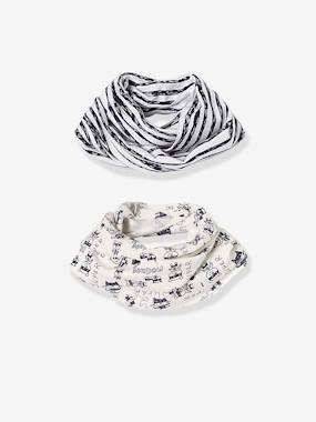 Baby-Hats & Accessories-Baby Boys' Pack of 2 Printed Snoods