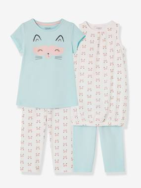 Girls-Nightwear-Girls' Pack of 2 Nighties + 2 Matching Leggings