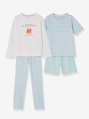 Boys-Nightwear-Boys' Pack of Mix & Match Pyjamas with Shorts + Pyjamas with Trouser Bottoms
