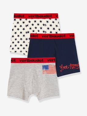 Boys-Underwear-Boys' Pack of 3 Stretch Boxer Shorts