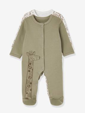 Baby-Pyjamas-Babies' Pack of 2 Fleece Pyjamas, Press-studs on the Back