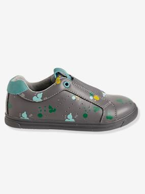 Shoes-Boys' Leather Trainers with Elastic