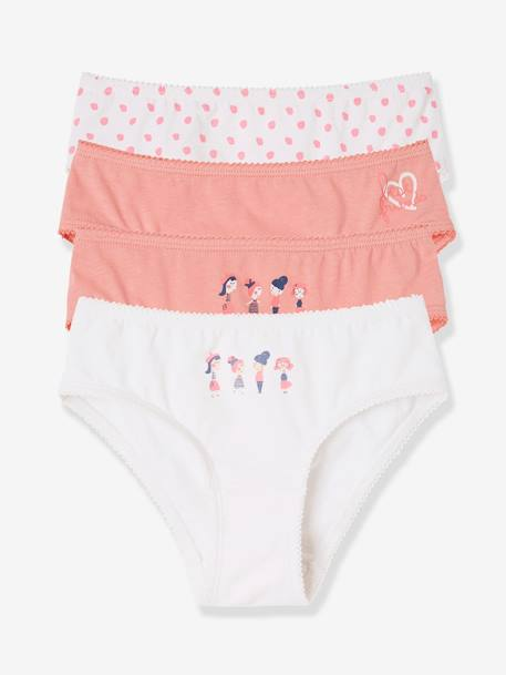Lot de 4 culottes stretch fille Lot eau de rose - vertbaudet enfant