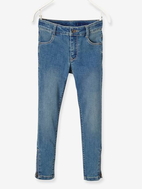 LARGE Fit - Girls' Skinny Jeans BLUE DARK WASCHED - vertbaudet enfant