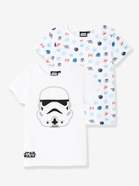 Licence-Boys-Boys' Pack of 2 Star Wars® T-Shirts